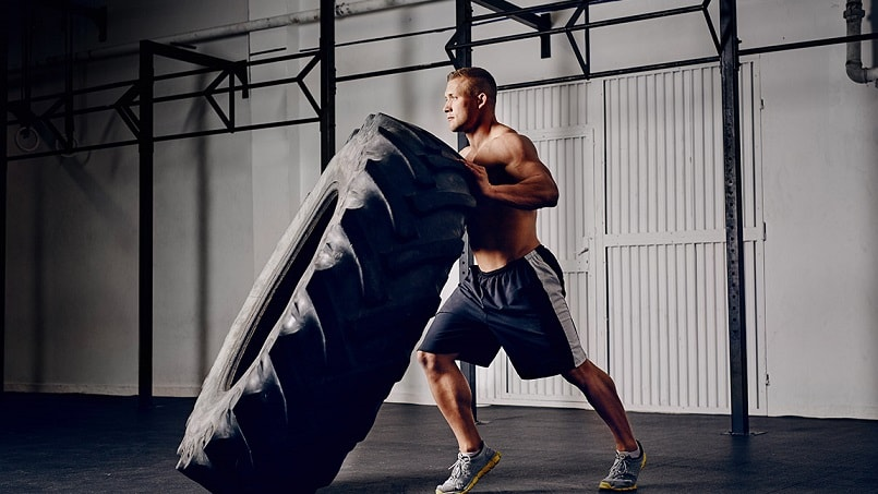 crossfit wods with a tire