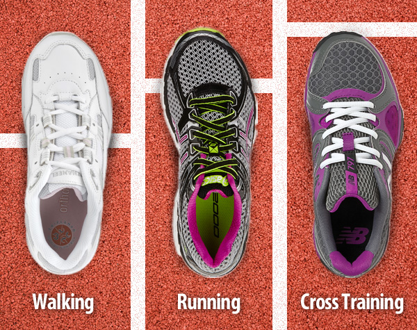 Cross Trainers vs Running Shoes vs Walking Shoes