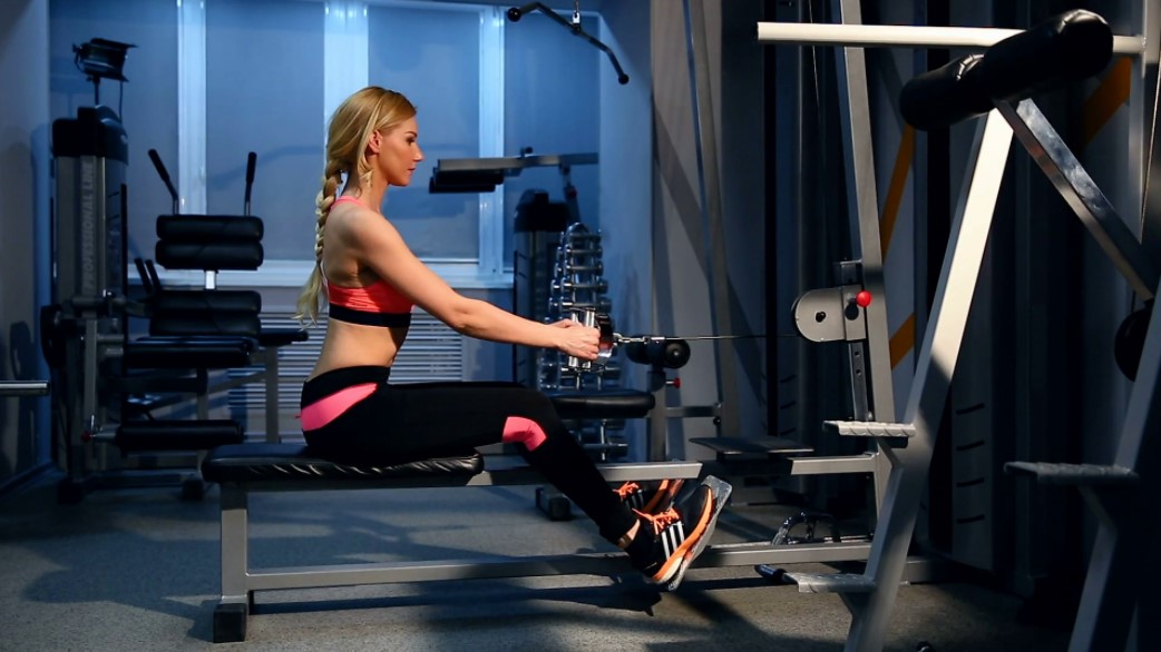 Workout woman cross training
